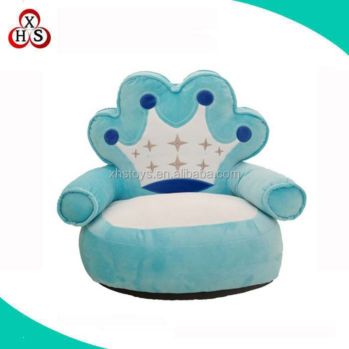 Stuffed Toddler Bubble Bean Bag Sofa Chair Kids Sofa Blue