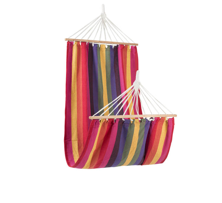 wholesale outdoor leisure family journey hammock multi-color with wood set