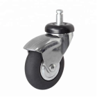 2 inch 3 Inch Artificial Rubber Caster Wheels