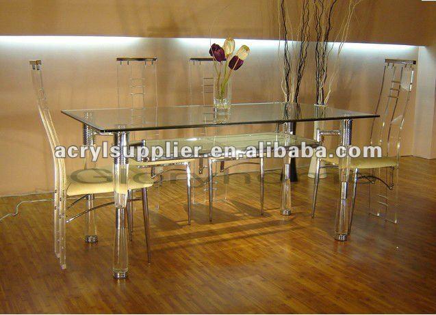 graue acryl esstisch und st hle f r zu hause hotel essstuhl produkt id 262168503. Black Bedroom Furniture Sets. Home Design Ideas