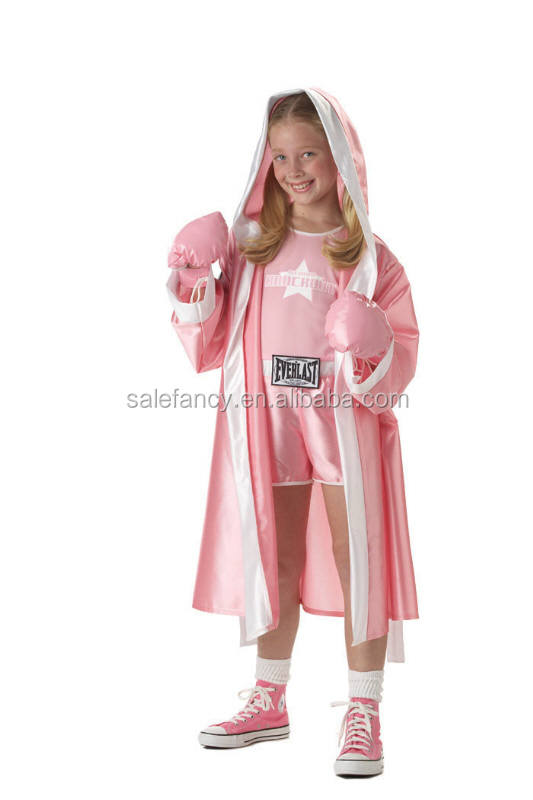 Boxer Babe Boxing Fighter Girl Pink panther Dress Up Halloween Sexy fancy dress costumes QBC-2190