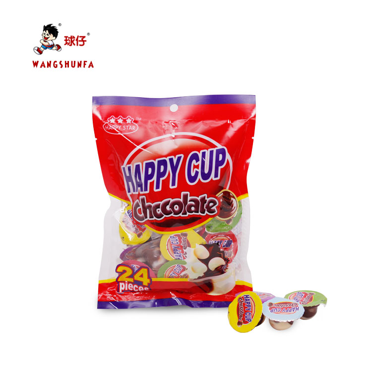 Children Snack Cup Chocolates And Sweets Mini Chocolate Cup With Biscuit Ball  children snacks