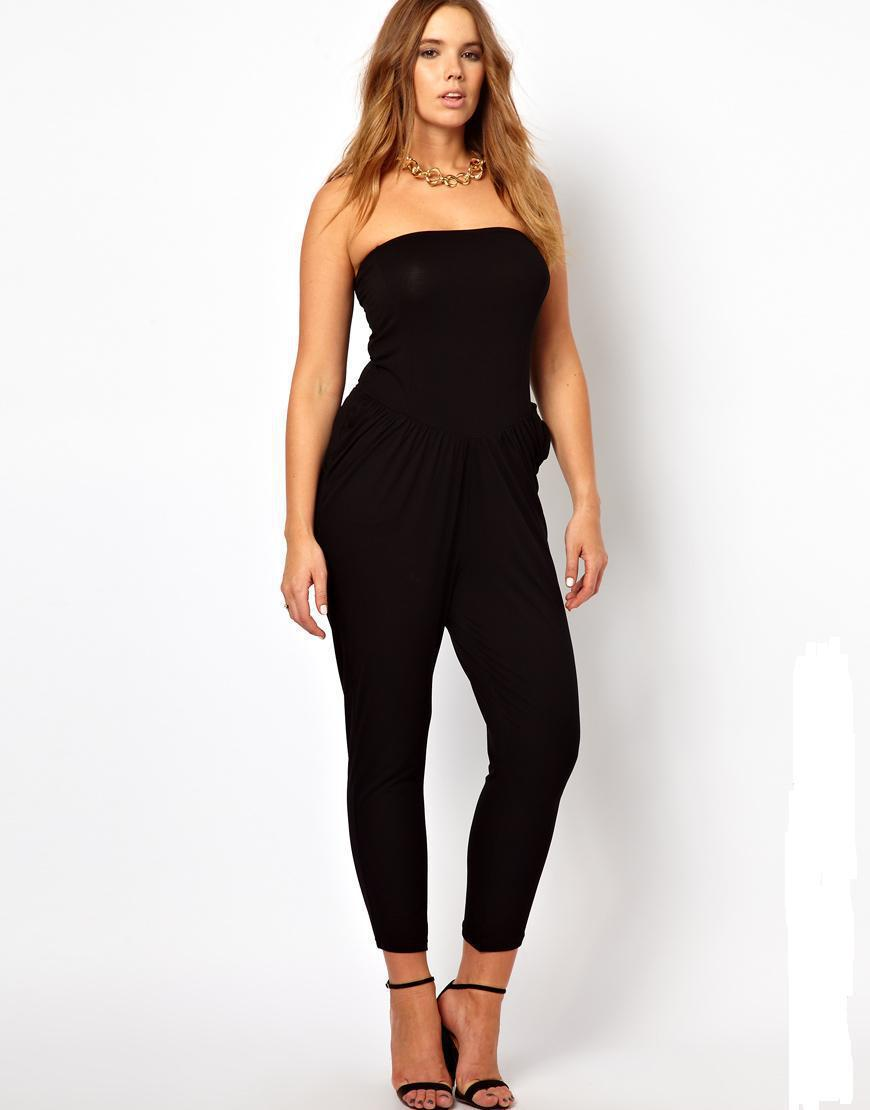 1e318c71a33da Get Quotations · 6XL Strapless Jumpsuits and Rompers Plus Size 2015 New  Playsuit Female Big Size Clothing Sexy Bodysuit