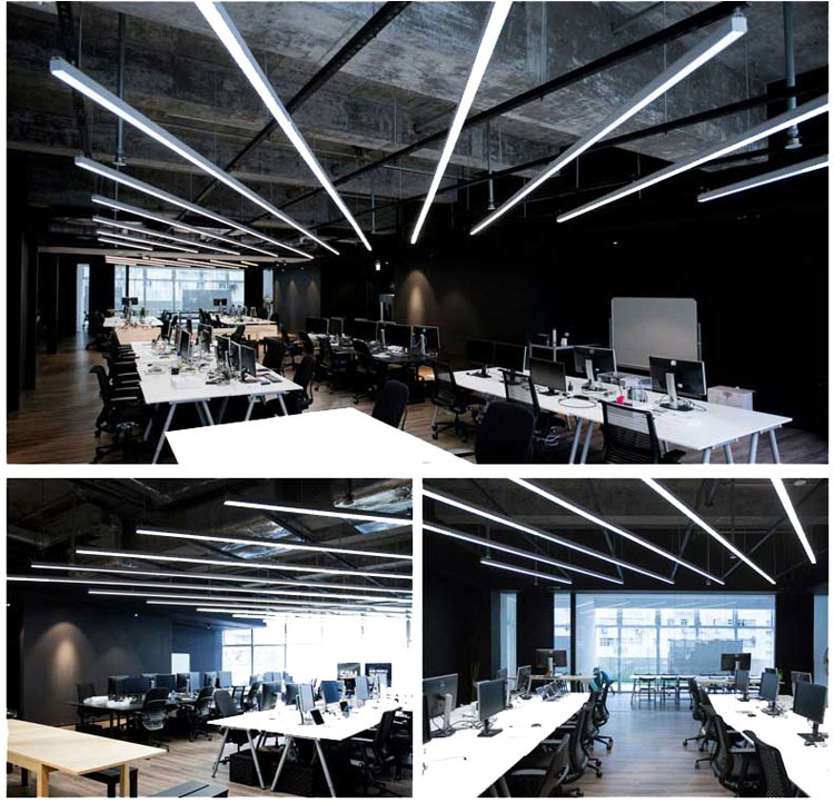 Ofis Asılı Led lineer aydınlatma 20 W 40 W