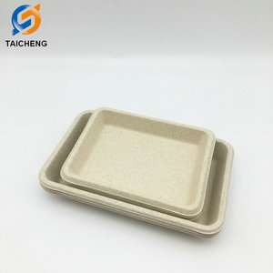 Different size biodegradable wheat straw plate wholesale