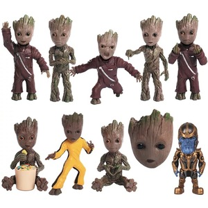 Baby Groot Figures Movie Guardians of the Galaxy POP Keychain Gifts