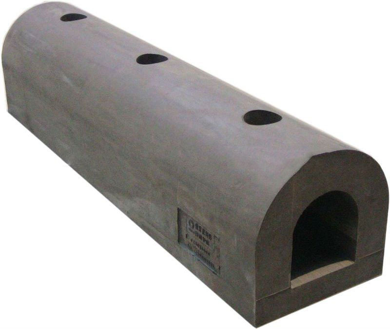 D type marine dock bumpers used in ship or port side