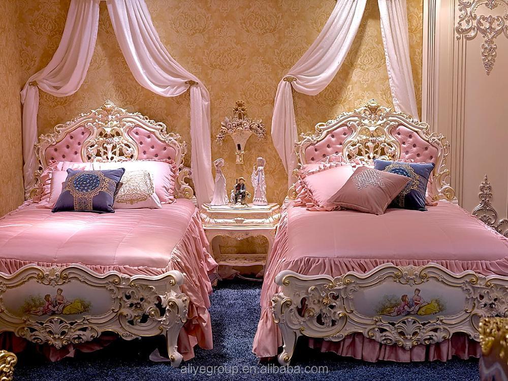 Hout Slaapkamer Meubels : As2501 luxury gilt hout luxe slaapkamer set exotische prinses