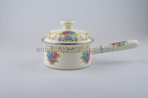 enamel cookware printed hand made pot