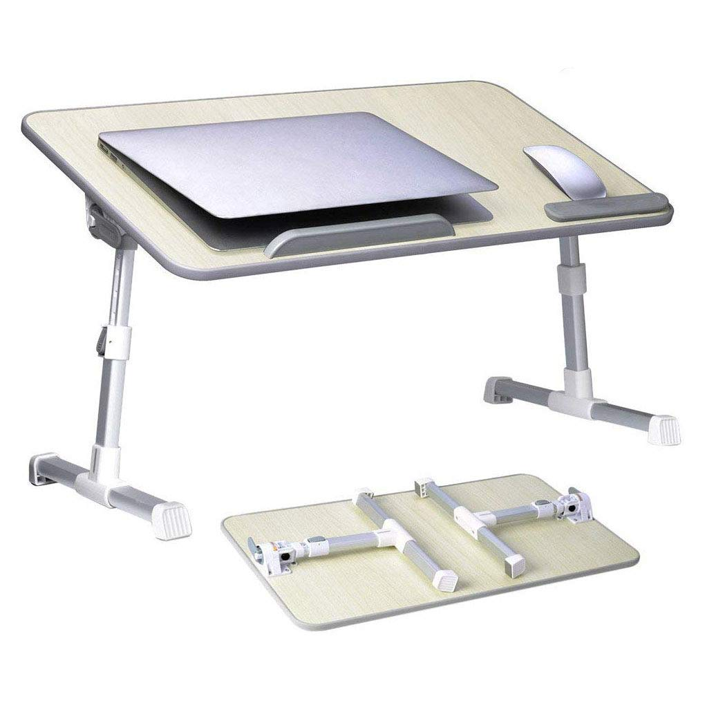 Portable Adjustable Laptop Bed Tray Table, Notebook Desk Stand Foldable Kids Breakfast Tray Book Reading Holder Lightweight Ergonomic Sofa Couch Floor Lap Tray Desk Drafting Table for Home Dormitory