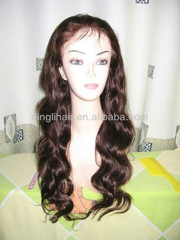 Indian Human Hair Full Lace Wig,Body Wave Hair Style,Designed Straps ...