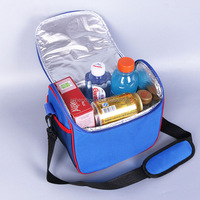 Top sale cheap custom large hand carry foldable insulated thermal food carrier cooler bag