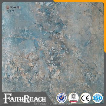 Non Slip 30x30cm Blue Marble Ceramic Floor Tile