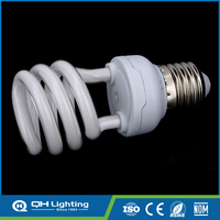 8w tri-colour powder T2 7mm half spiral Energy Saving Light
