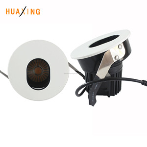 Factory 8w 10w Tiltable Key hole Hotel Premount Kit Wall Washer Recessed fire rated LED COB Downlight, CCT changeable