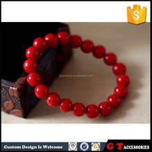 Fashion sea jewelry of elastic red coral rose bracelet