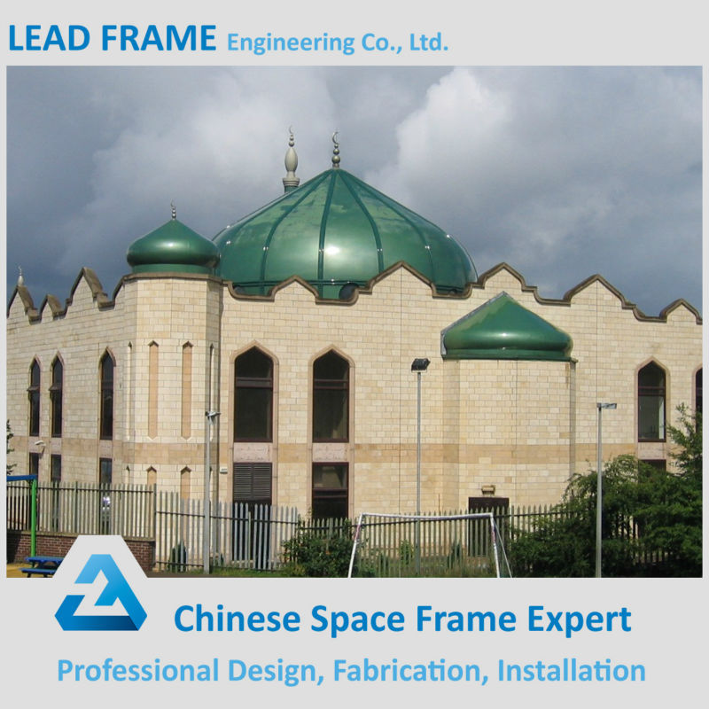 Large Span Fiberglass Roof Polycarbonate Covered Roof Shed Mosque Dome