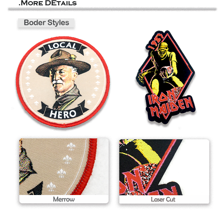 Custom high quality woven patches woven tags woven badge for clothing