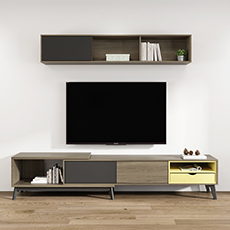 Simple wood tv stand MDF living room sets tv cabinet wooden modern