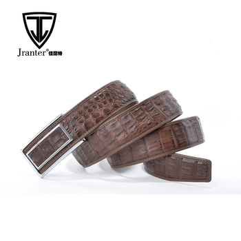 New Good Design High Quality Brown Genuine Alligator Leather Belts Wholesale