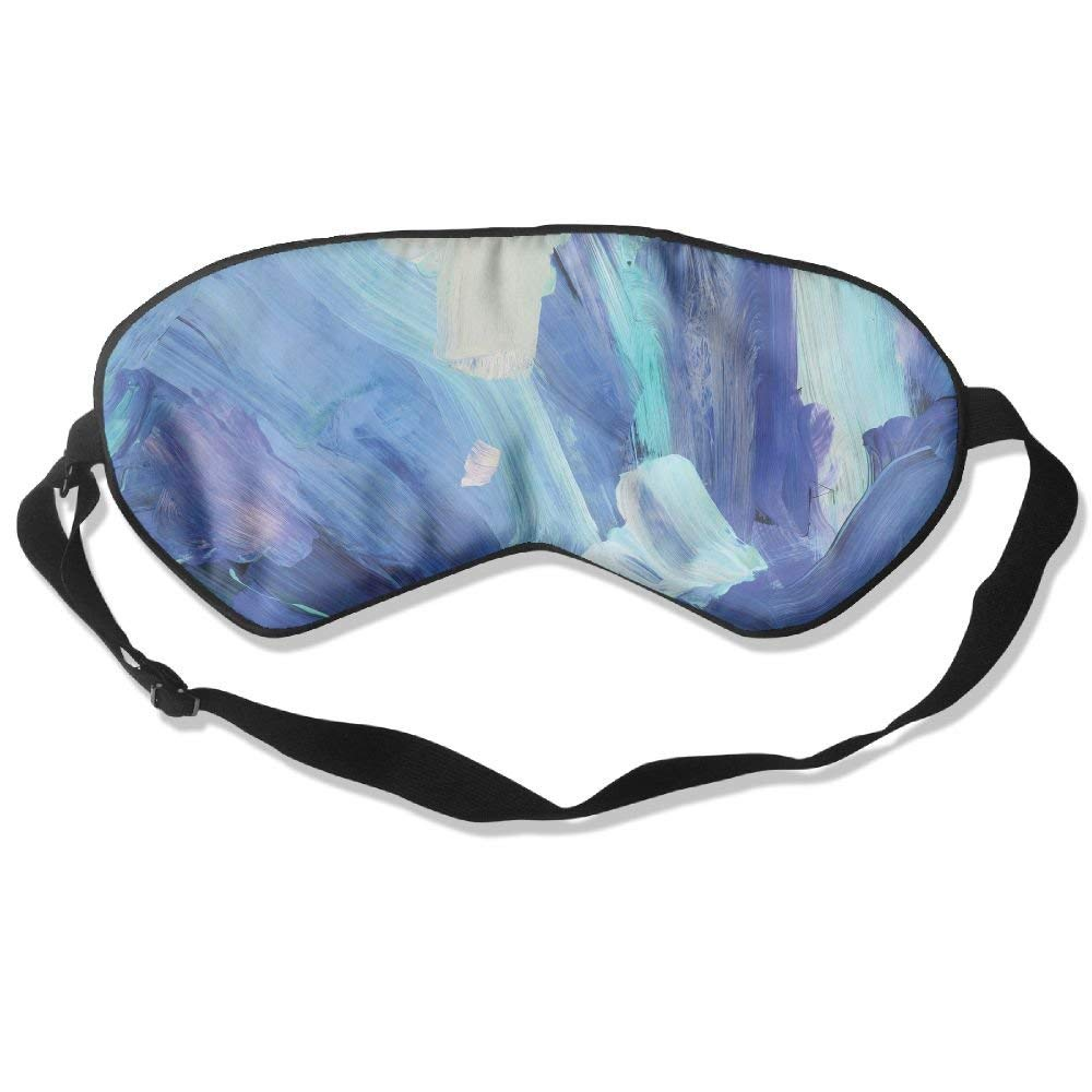 Madge Kelley Eye Mask Adjustable-Strap Eyeshade Sleeping Mask Skin-Friendly Hand-paint Dark Night Sleep Travel
