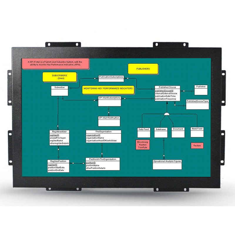 19 inch embedded industrial panel capacitive/resistive touch screen lcd monitor