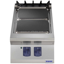 sopas Commercial Cooking Equipment Stainless Steel Countertop 2 Hot Plate Electric Cooker