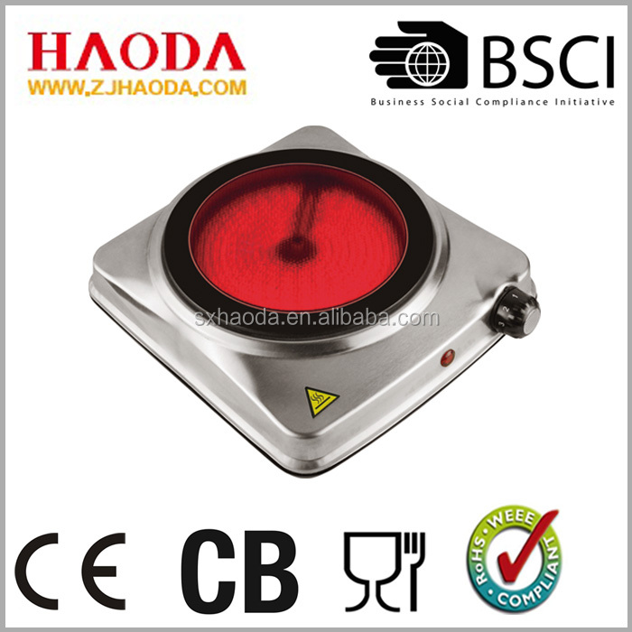 Single Ceramic cooker hobs and Infrared hotplate