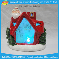 led Cute high quality newest ceramic christmas village houses