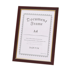 Chinese red wood color A4 Honorary certificate photo frame/A4 picture frame