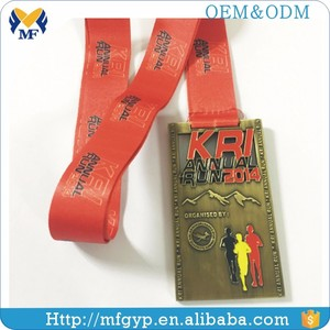 Factory custom logo square military award medal