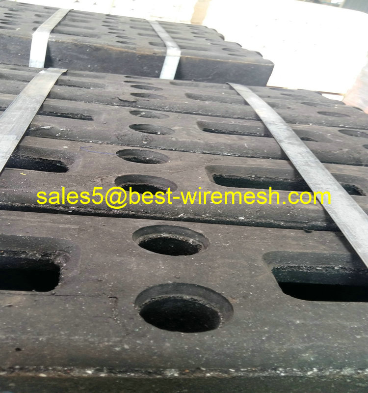 Recycled Rubber Temporary Fencing Feet Rubber Fence Block