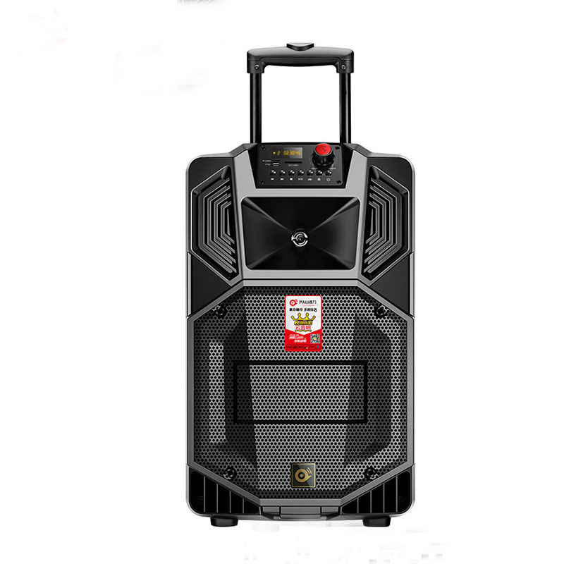 NEW Promotional party Speaker, Good Sound plastic portable trolley speaker with Mega bass 15 inch /FM /USB/SD/remote control