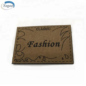 High Quality Custom Leather Elbow Patch PU Leather Metal Label Patches for Clothing