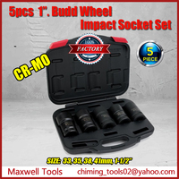 Right Price Maxwell Tools 5PCS 1 INCH Budd Wheel Socket Set Wrench Socket Tool Set