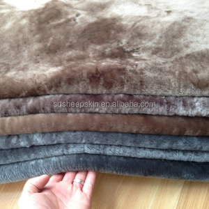 Curly sheep fur garment lining, shaggy lining