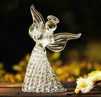 Clear Glass Beautifucrystal Angel Gift For Wedding Decoration Wedding  Souvenirs