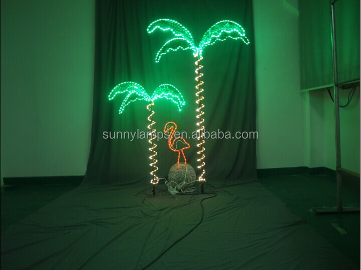 LED Palm Tree Light Spiral