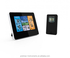 Multi-color lcd display home wifi weather station