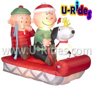 Snoopy And Woodstock Christmas Inflatable.Snoopy Christmas Inflatable