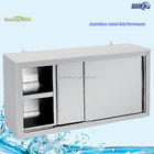 Wholesale S/S Cabinet Commercial Kitchen Cabinet Stainless Steel Kitchen Wall Hanging Cabinet With Sliding door