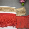 hot selling multi colors curtain dance costume sewing long polyester chainette fringe