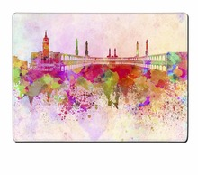Natural Rubber Mecca Horizon Watercolor Background High Quality placemat