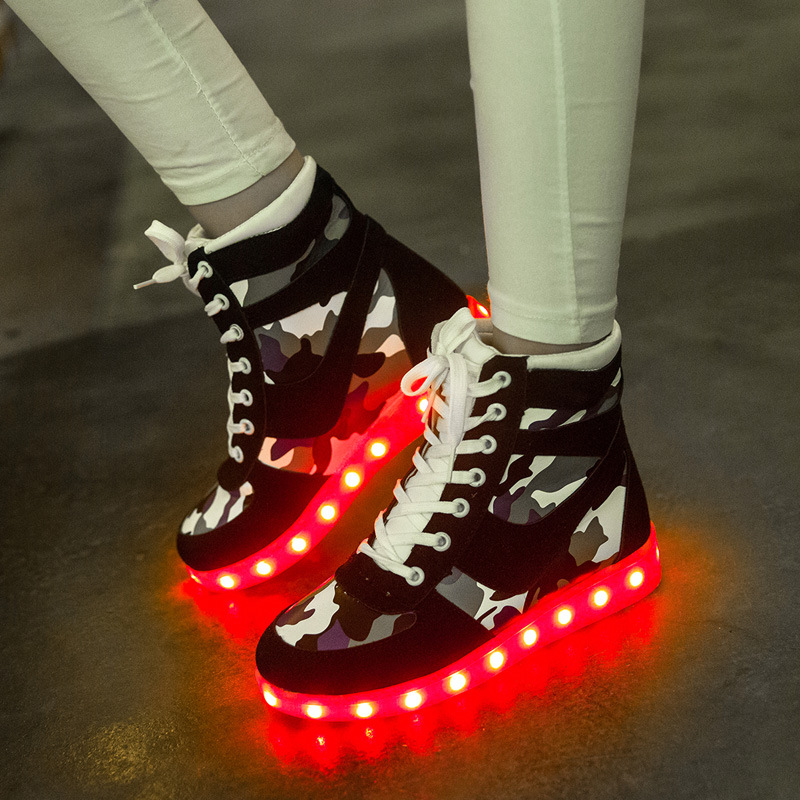 8 Color Basket LED Shoes 2017 LED Sneaker For Adults Fashion Glowing LED Light Shoes Chaussure Basket