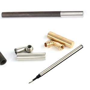 silver golden copper Wood Crafts Woodturning Pen DIY gift sets Brass Stainless Steel metal kits parts for wooden pen