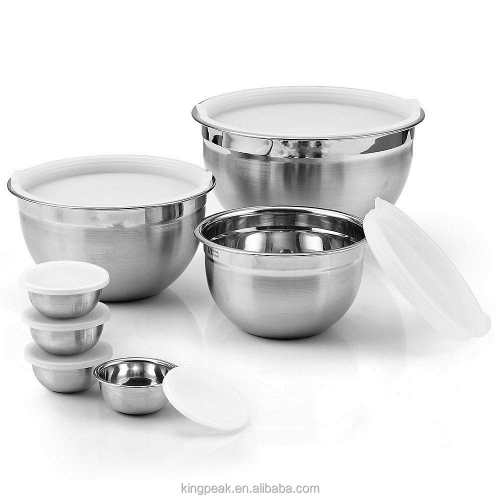 2017 Best Selling Product Stainless Steel Mixing Bowl /Stainless steel Salad bowls with lids/Stainless steel Serving Soup Bowls