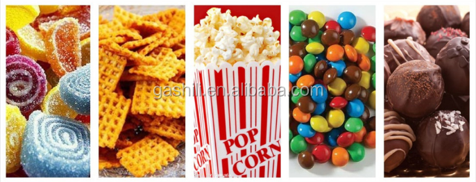 Energy saving snack flavour mixer machine/flavor treatment maker/peanut seasoning machine