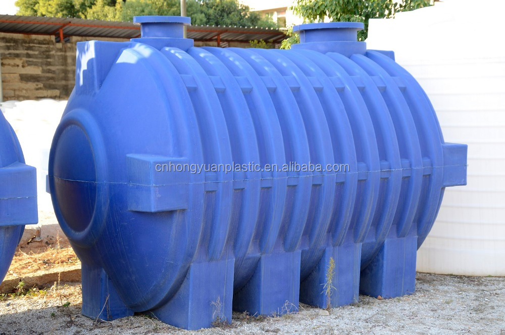 Rotomolded plastic septic tank 5000L with 3 chambers for rural area