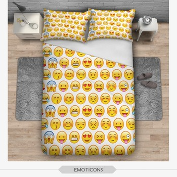 3d Digital Zohra Sublimation Flag Aztec Emoji Face Home Decor Black And  White Print Bed Cover