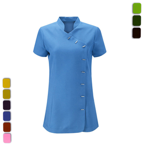 Fashion Metal Buttons Spa Salon Tunic Uniform